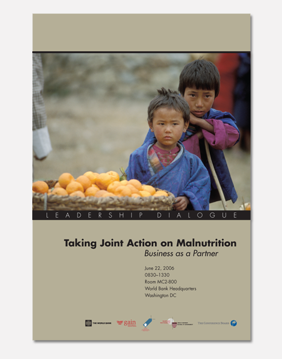 Joint Action on Malnutrition poster