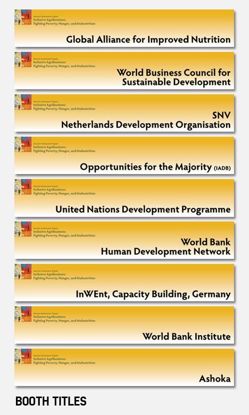 Executive Development Program booth titles