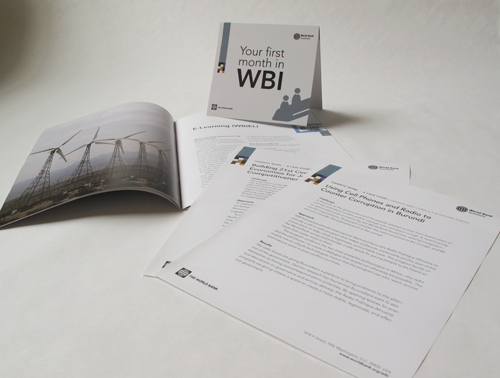 WBI Onboarding booklet and sample case studies of WBI's work